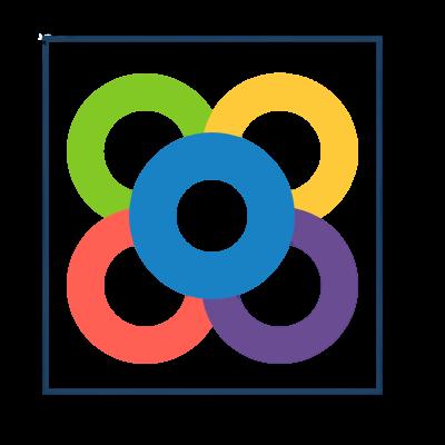 Scrumday logo - Barcelona flower